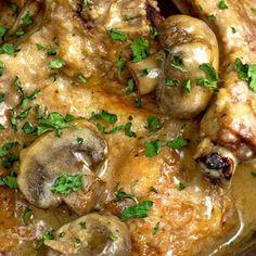 Merlot Mushroom Pork Chops