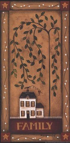 primitive homes for sale Primitive Homes, Primitive Kunst, Primitive Painting, Primitive Crafts, Tole Painting, Country Primitive, Painting On Wood, Primitive Bedroom, Primitive Survival
