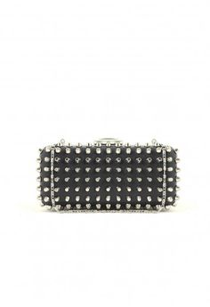 Edithea Studded Box Clutch - bags & purses - missguided