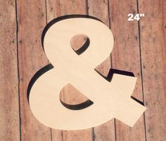 "Unfinished 24"" Decorative Wooden Letter / Ampersand 24 Inch Symbol / Nursery Wall Craft / Alphabet Photo Prop / Baltic Birch Wood on Etsy, $33.00 @slatermm"