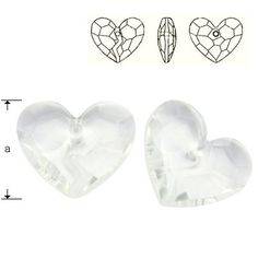 6263 Forever 1 Heart 36mm Crystal  Dimensions: 36,0 mm Colour: Crystal 1 package = 1 piece