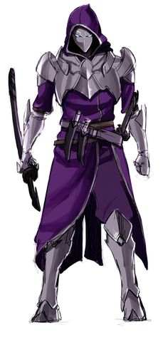character concept swordsman by felipenero Dnd Characters, Fantasy Characters, Armor Concept, Concept Art, Armadura Ninja, Character Concept, Character Art, Ninja Armor, Knight Armor