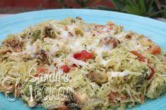 Sandy's Kitchen: Spaghetti Squash with Chicken and Pesto