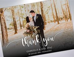 Thank You Postcards  Custom Wedding Thank You Card  Wedding