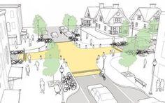 Quatro dicas para projetar cruzamentos mais seguros,Cruzamento elevado. Imagem via Plataforma Urbana: