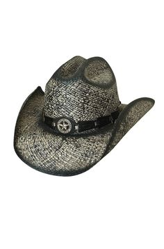 Shapeable Straw Cowboy Hat - Star Central (7 days to ship).  2208Hat 236f3e8d3d96