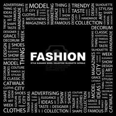 Word collage for fashion.