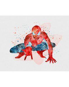 Spiderman Marvel Watercolor Art - VividEditions