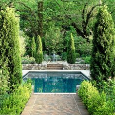 A great Small Inground Pool for your garden pool landscaping 27 Best Small Inground Pool Ideas in 2019 - Trumtin Backyard Pool Landscaping, Small Backyard Pools, Landscaping Ideas, Pool Fence, Small Backyards, Swimming Pool Designs, Swimming Pools, Ideas De Piscina, Square Pool