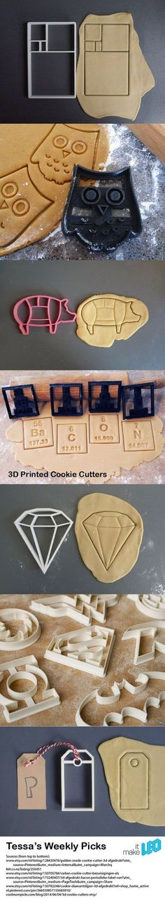 Tessa's Weekly Picks – 3D Printed Cookie Cutters. More #3dprintingideas