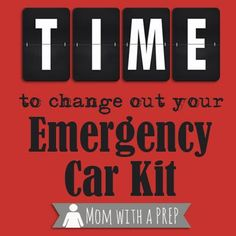 It's time to change out your emergency car kit!! Refresh those supplies, switch out seasonal gear, and make sure you have all you need! /// Mom with a PREP