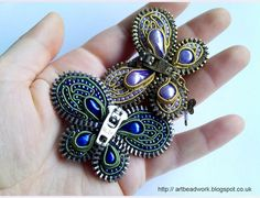 ArtBeadwork: Zipper butterfly brooches and PDF tutorial