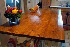 Ideas Wood Kitchen Accessories Wooden Countertops For 2019 Diy Kitchen Island, Wooden Kitchen, Kitchen Redo, New Kitchen, Kitchen Ideas, Country Kitchen, Kitchen Updates, Kitchen Makeovers, Kitchen Things