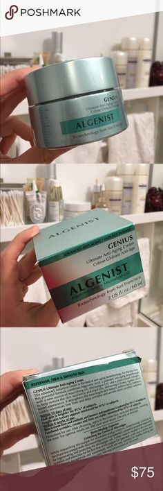 Algenist Genius cream - 2oz - BNIB Still shrink wrapped, Algenist's #1 selling product - Genius Ultimate Anti Aging Cream. Retails for $112 on Sephora. I get toooo many products! Help me unload!! #skincare algenist Makeup