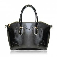 Retro Style Women's Tote Bag With Metal and Solid Color Design (BLACK) | Sammydress.com