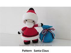 Fia, fiocco di cotone: pattern Santa Claus