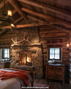 Rustic Home Decor 19 Ideen Rustikale Wohnkultur Cabin Mountain Woods Are Bunk Beds Easy To Put Toget Log Cabin Living, Log Cabin Homes, Log Cabin Bedrooms, Log Cabins, Vegvisir, Log Home Decorating, Tiny House Cabin, Cabin Interiors, Cozy Cabin