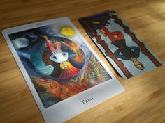 """Light & Shadow - the hanged one. """"There are two options with this card: the trial happens to us and we fall victim or, using our awareness, we are active participants."""" ~ Siobhan Rene over at Little Red Tarot #tarot"""
