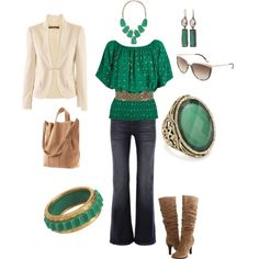 """""""greens and neutrals"""" by mrlh on Polyvore"""