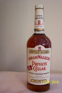 Hiram Walker's - Private Cellar bourbon, comes from Peoria, Illinois. Whisky Bar, Bourbon Whiskey, Peoria Illinois, Cellar, Scotch, Whiskey Bottle, Girlfriends, Drinking, Bourbon