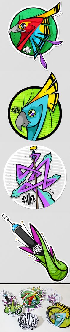 Stickers on Behance Graffiti Designs, Urban Graffiti, Street Art Graffiti, Graffiti Characters, Abstract Geometric Art, Found Art, Airbrush Art, Stencil, Art Graphique