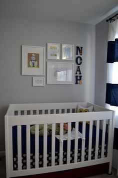 Noah's Navy Blue And White Nursery
