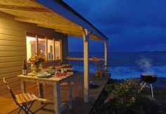 The Beach Hut in Cornwall, UK. Available for rent as well! I don't think i'd ever leave.
