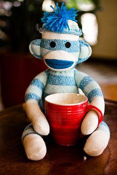 Monkeys love coffee.