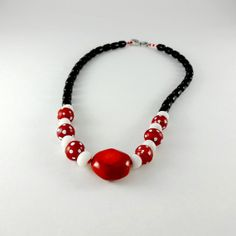 Red White Black Necklace of Vintage African by CalliopeAZCreations, $85.00