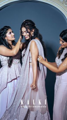 #Episode5 #RealBridesmaidsofKalki Are you not blessed with the best girlfriends in the world? Well, one of our #KALKIBrides has been fixed, and we planned on this one big 'Bride & Bestie' photoshoot for her and her #squad before she bids goodbye to singlehood.Also we got you a list of all sorts of 'must-have' picture ideas - from the cheesy ones to the most boujee ones. Episode 5, Picture Ideas, Besties, Girlfriends, Squad, Bridesmaids, Sequin Skirt, Blessed, Manga
