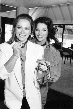 Jackie Collins with her older sister Joan Collins