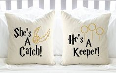 Hey, I found this really awesome Etsy listing at https://www.etsy.com/listing/229100477/harry-potter-shes-a-catch-hes-a-keeper