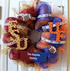FSU and UF House Divided custom football by SouthernMomDesigns, $55.00