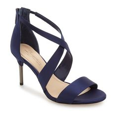 Women's Imagine By Vince Camuto 'Pascal' Sandal (120 CAD) ❤ liked on Polyvore featuring shoes, sandals, indigo, special occasion sandals, special occasion shoes, evening shoes, evening sandals and crisscross shoes