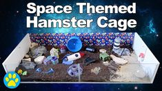 Space themed hamster cage tour. Also includes some great ideas for mice, gerbils, rats and other small rodents!