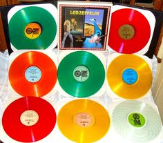 Image result for colorful vinyl records