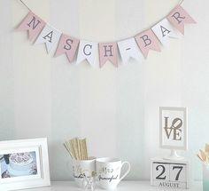 Girlanden & Wimpelketten - Naschbar Girlande Hochzeit Candy Bar Wimpelkette - ein Designerstück von stempellotta_de bei DaWanda