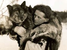Corbis: Underwood & Underwood   Togo, pictured here with legendary sled-dog musher Leonhard Seppala, achieved fame when in 1925 he led a team of dogs to carry a diphtheria antitoxin on a long relay to Nome, Alaska, saving the isolated community from an epidemic.