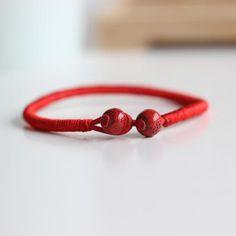 Babel Red Rope Bracelet Transit Evil Round beads Shape Ceramic Handmade Hand Strap Romantic Birthday Gift For Girlfriend. Charm Bracelets For Girls, Silver Bracelet For Girls, Bracelets With Meaning, Mens Silver Rings, Silver Rings Handmade, Bracelets For Men, Handmade Bracelets, Silver Bracelets, Bangle Bracelets