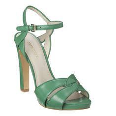 $89 @ Nine West. I wish these weren't so HIGH. I love the color, but my knees and hips would not be so happy, even with the platform.