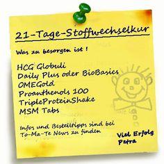 Was braucht man alles für die 21-Tage Stoffwechselkur und wo kann man es günstig bekommen? www.to-ma-te.com/news/g700.htm