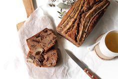 Bananabread aux noix de pécan, chocolat et farine de châtaigne