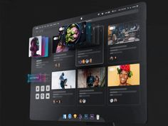 Experimental ▶️ 🖥 IMac X - Animated gif extrude animation ae hover imac futuristic ui Ui Ux Design, Interface Design, 3d Design, User Interface, Layout Design, Graphic Design, Fluent Design, Design Spartan, Ui Animation