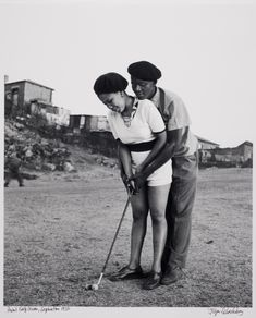 Jürgen Schadeberg, Golf Lesson, Alexandra Township, 1954