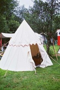 Pennsic XXXIII Pavilion Tent - would love a village of these cute tents in the Boho & Conical tent | SCA Camping and Tent Decor | Pinterest | Tents ...