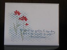 CC470, RED posies by jdmommy - Cards and Paper Crafts at Splitcoaststampers