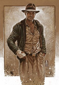 Indiana Jones (homage to Drew Struzan) by Mark Brooks *