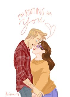 Cath & Levi. They are super cute! #FANGIRL by Rainbow Rowell