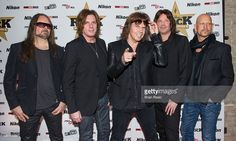 Mic Michaeli, John Leven, Joey Tempest, John Norum and Ian Haugland of Europe attend the Classic Rock Roll of Honour at The Roundhouse on November 11, 2015 in London, England.