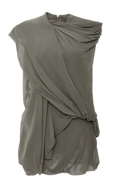 Bundle Loose Draped Sleeveless Top by RICK OWENS Now Available on Moda Operandi